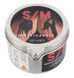 S/M Candle in a Tin, must SADOMASO fetish küünal purgis, 100g