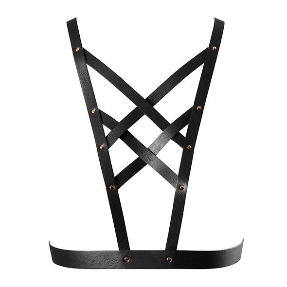 BIJOUX INDISCRETS - MAZE NET CLEAVAGE HARNESS BLACK, Harness, must