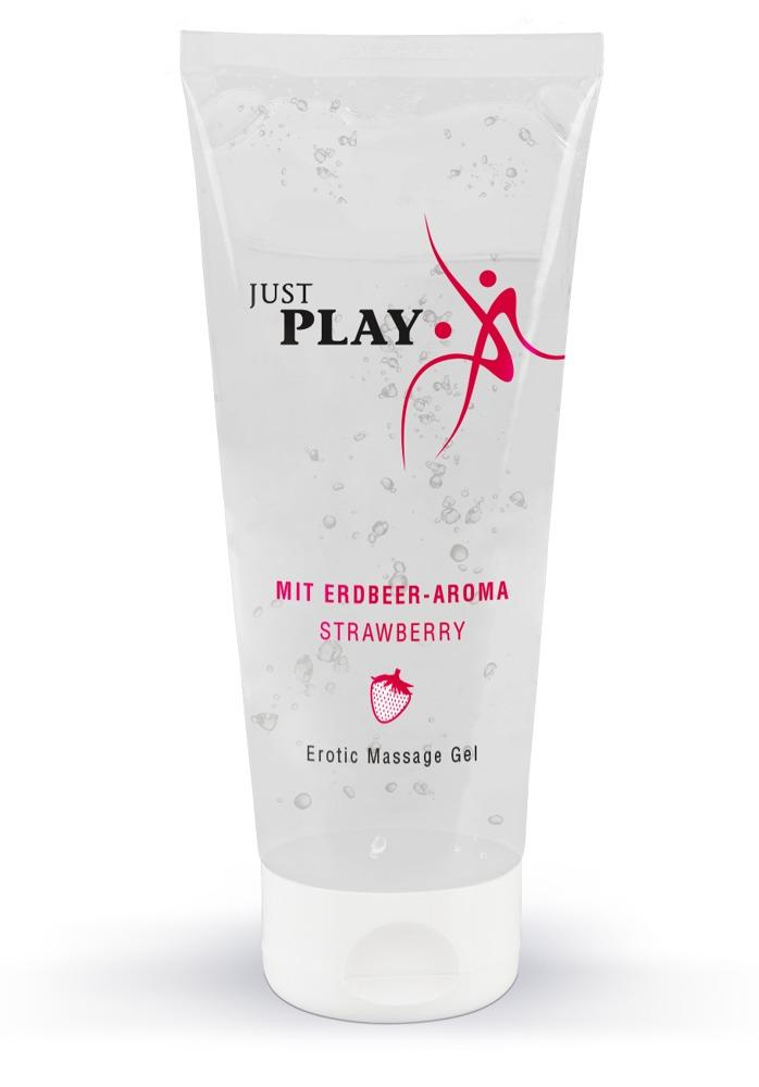 Erotic Massage Gel with a Strawberry Scent, massaažigeel maasikaga, 200ml