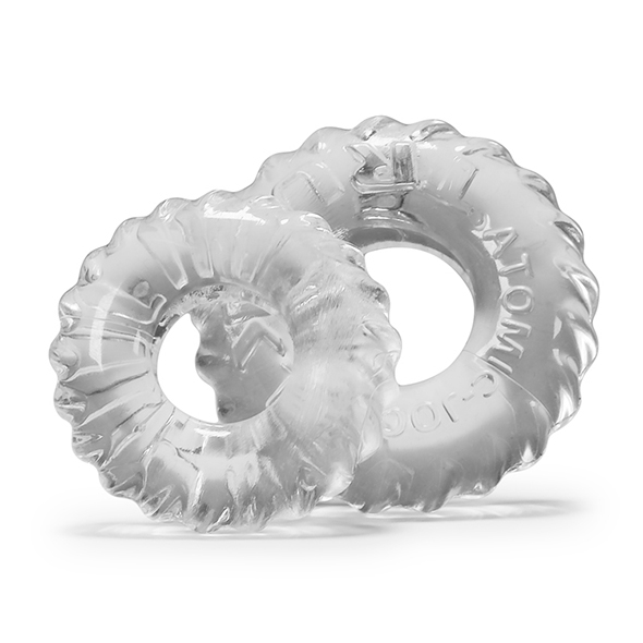 OXBALLS - TRUCKT COCKRING 2-PACK CLEAR, 2 peeniserõngast