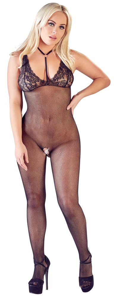 Crotchless Catsuit by Mandy Mystery Lingerie, võrgust Catsuit, S-L