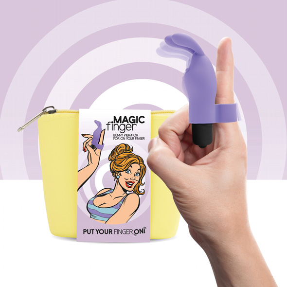 FEELZTOYS - MAGIC FINGER VIBRATOR PURPLE, näpuvibraator, lilla jänku