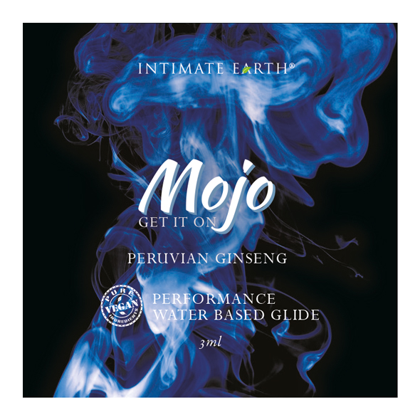 INTIMATE EARTH - MOJO PERUVIAN GINSENG WATERBASED PERFORMANCE GLIDE, žen-ženniga võimekust tõstev geel, pisipakend 3ML