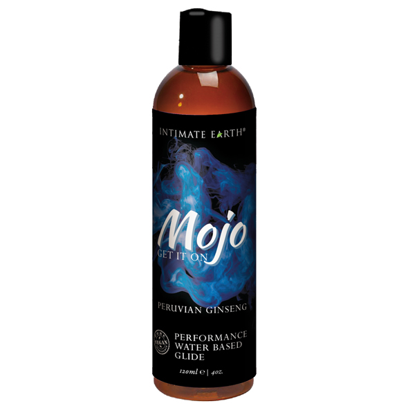 INTIMATE EARTH - MOJO PERUVIAN GINSENG WATERBASED PERFORMANCE GLIDE, žen-ženniga võimekust tõstev geel, 120ml