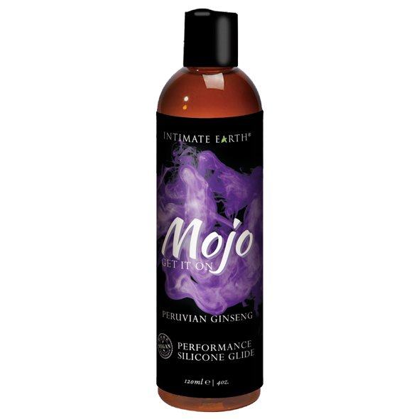 INTIMATE EARTH - MOJO PERUVIAN GINSENG SILICONE PERFORMANCE GLIDE, silikoonbaasiline ženžen geel,  120ML