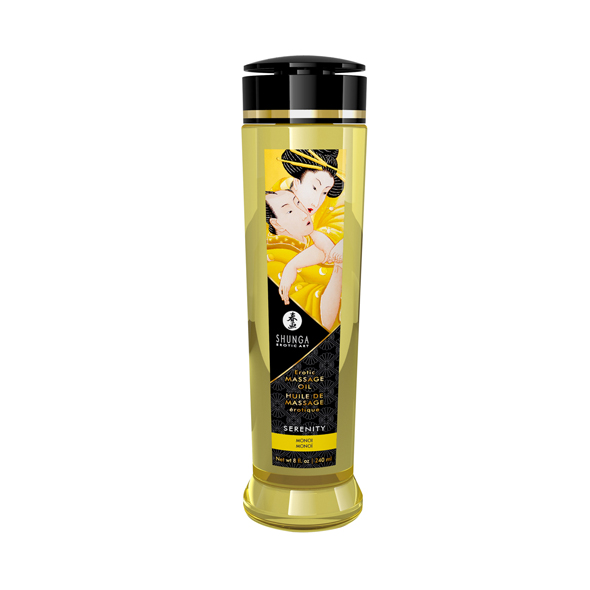 SHUNGA - MASSAGE OIL SERENITY MONOI, massaažiõli Tahiti serenaad, 240ml